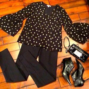 Lilly Pulitzer 100% silk black tunic top, NWT